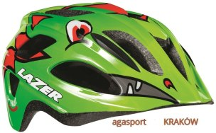 KASK ROWEROWY LAZER P'NUT DRAGON GREEN JR PNUT