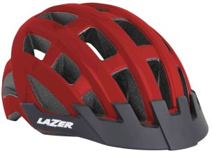 KASK ROWEROWY LAZER COMPACT COMP RED 2021