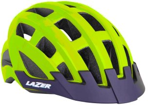 KASK ROWEROWY LAZER COMPACT DLX COMP NEON 2021