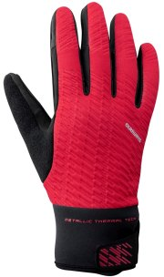 RĘKAWICZKI SHIMANO WINDBREAK THERMAL RED DŁUGIE P